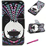 iPhone 5C Case, JCmax Fashion Book Style Flip PU Leather Wallet Case Protective Cover [Card Holder] [Magnetic Closure] for Apple iPhone 5C Release - [Animal Bear Pattern]