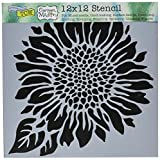 Crafters Workshop Joyful Sunflower Crafter's Workshop Template, 12 by 12''