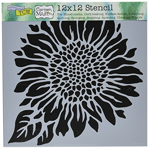 Crafters Workshop Joyful Sunflower Crafter's Workshop Template, 12 by 12'' by CRAFTERS WORKSHOP