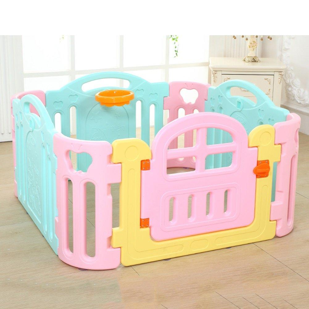 赤ちゃんの遊び場の子供たち8パネルの安全性のプレーセンター庭ホーム屋内屋外マルチカラーキッズ活動エリア120×120×62cm   B07CTFL6F2