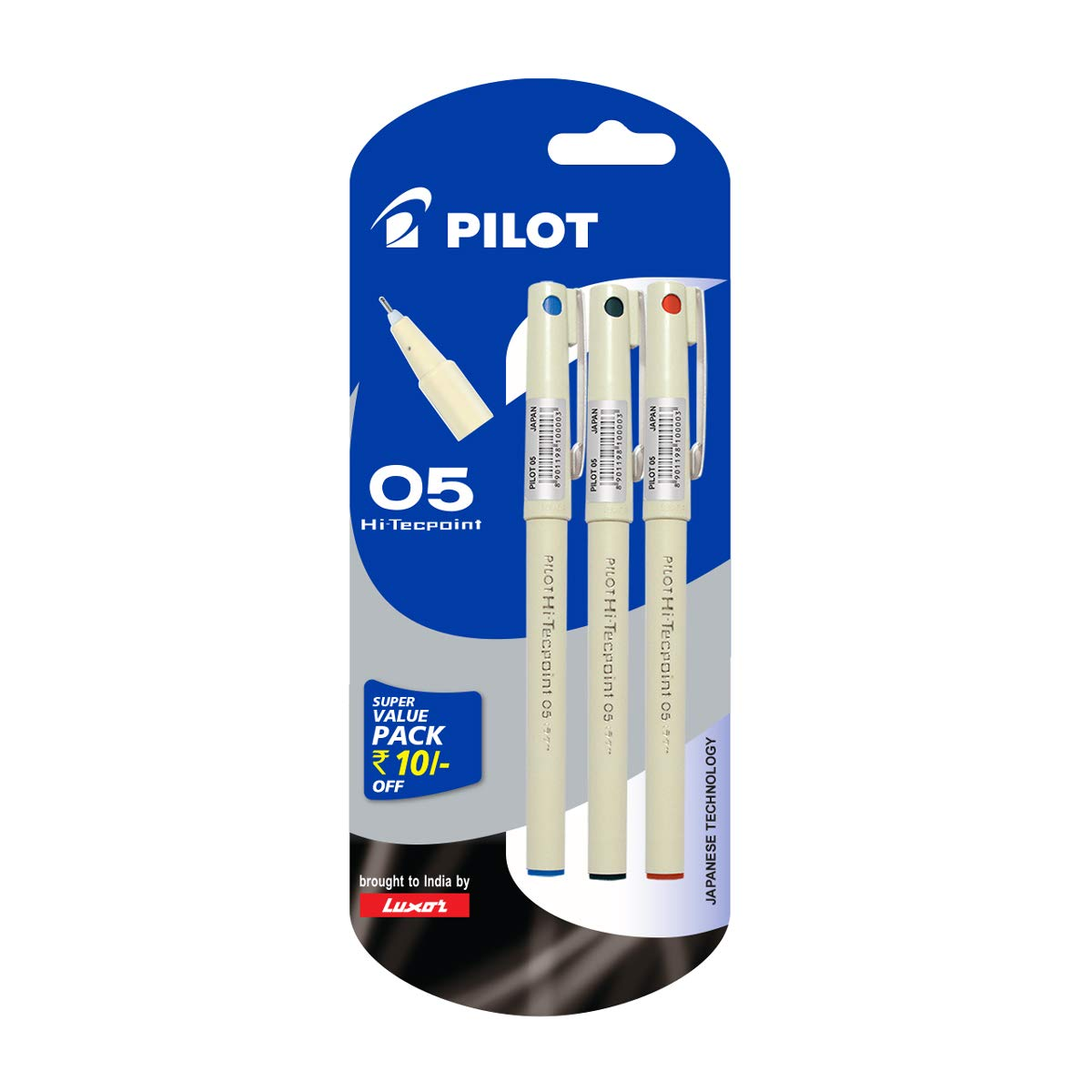 Pilot Hi-Techpoint 05-1Blue + 1Black + 1Red product image