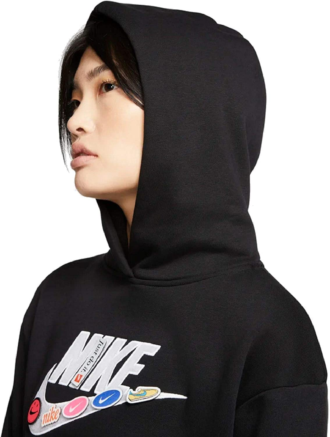 Nike Damen NSW Icon Clash Fleece Bb Hoodie Damen Hoodie Black