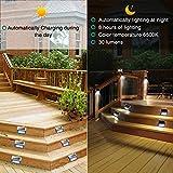 12 Pack Solar Powered Deck Lights Wireless Bright