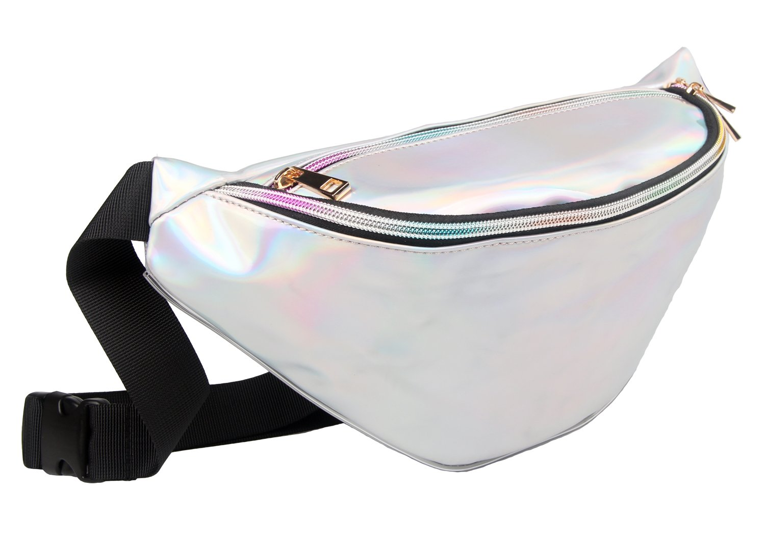 b97c9d475 Fanny Pack Waist Bag Women Pouch Bum Holographic Iridescence Shiny  Adjustable Band for Vacation Party Lorencia