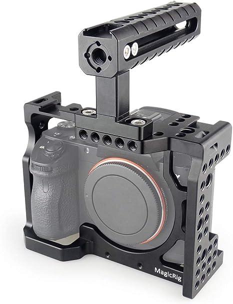 MAGICRIG: Jaula para cámara réflex Digital con asa Superior para ...