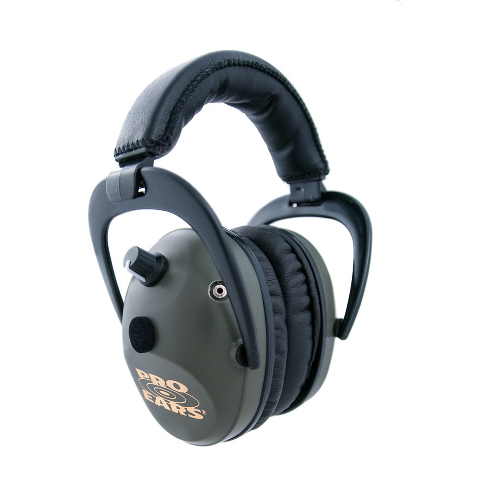 Pro Ears - Predator  Gold - Hearing Protection and Amplfication - NRR 26 - Contoured Ear Muffs - Green