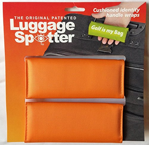 Luggage Spotter BUY ONE GET ONE FREE (ORANGE) Luggage Locator/Handle Grip/Luggage Grip/Travel Bag Tag/Luggage Handle Wrap (4-PK) – GREAT GIFT! by Luggage Spotter