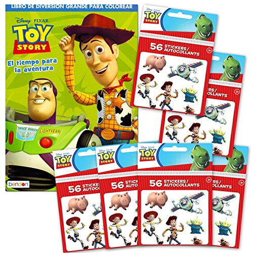 Disney Pixar Toy Story Coloring and Activity Book with Stickers (International Edition, Spanish Language)