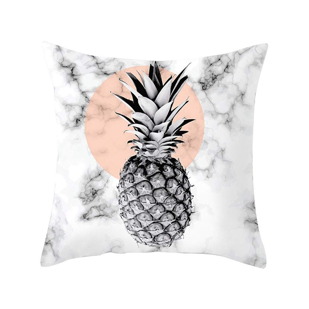 Pet1997 Multicolor Geometric Marble Texture Throw Pillow Case, Super Soft Pillowcase, Cushion Cover, Sofa Home Decor, Luxury Bedding,18 X18 Inch (A)