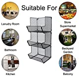 ESYLIFE Multipurpose Wall Mount 3 Tier Bathroom
