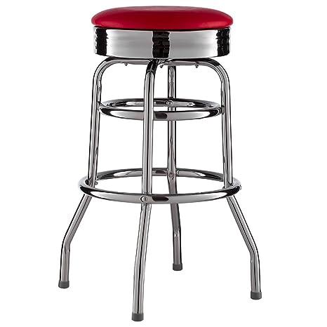 Sgabelli Bar Anni 50.Elna Shop Sgabello Da Bar Stile American Diner Retro Us