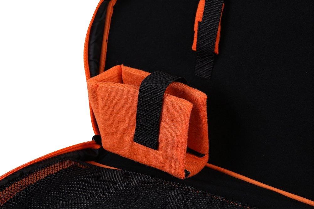 Legend Archery Superline Compound Bow Case - Backpack Shoulder with Straps - Inside Length 44'' (Orange)