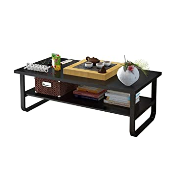 Soges Moderner Kaffee-Tisch 100*60cm mit Doppelfächer für ...