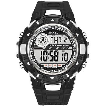 SW Watches SMAEL Relojes Militares Army LED Los Hombres Ven Grandes Relojes Deportivos A Prueba De Agua Reloj De Pulsera Digital De Silicona para Hombre,D: ...