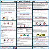"How To Read A Safety Data Sheet (SDS) Poster - Laminated 24"" x 24"""