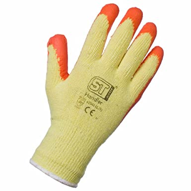 120 PAIRS LATEX COATED BUILDERS SAFETY GRIP WORK GLOVES MENS RUBBER GARDENING