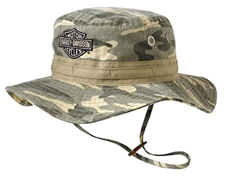 9fadc3facad Image Unavailable. Image not available for. Color  Harley-Davidson Mens  Camouflage Bucket Hat ...