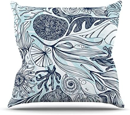 Kess InHouse Anchobee Marina Throw Pillow Blue Aqua 18 x 18