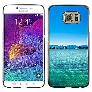 TopCaseStore / la caja del caucho duro de la cubierta de protección de la piel - Philippines Dream Blue Lagoon Paradise - Samsung Galaxy S6 SM-G920