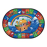 Noah's ABC Animals Classroom Rug - 5 ft. 4 Inch x 7 ft. 8 Inch Oval