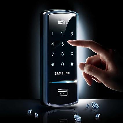 Samsung Digital Door Lock SHS-1321 security EZON keyless & Amazon.com: Samsung Digital Door Lock SHS-1321 security EZON keyless ...