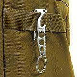 SZHOWORLD® XTools Stainless Steel Pocket Clip Key Ring EDC Mini Multi-function Tool Bottle Opener Hex Wrench Belt Clip