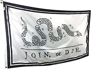 product image for 3x5' Join or Die Flag, Durable All-Weather Nylon, Reinforced Fly end Stitching - Proudly Made in The USA