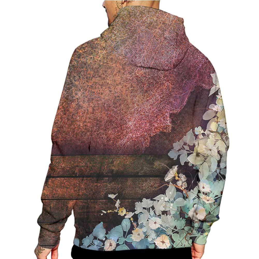 Hoodies Sweatshirt/Men 3D Print Floral,Victiroan Floral Design,Sweatshirts for Teens