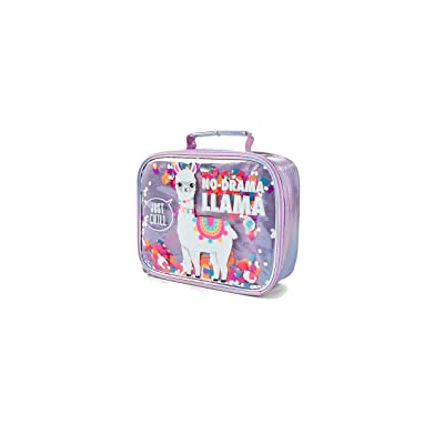 Justice No Drama Llama Sequin Shaky Lunch Tote: Kitchen & Dining