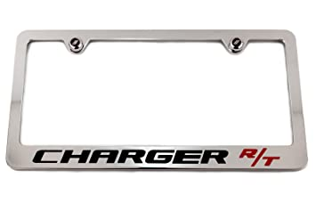 dodge charger rt custom chrome license plate frame - Dodge License Plate Frame