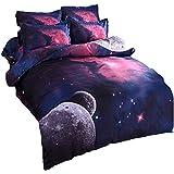 Etelux Ropa de Cama de 3 piezas, Cama de tamaño de Queen, diseño de galaxia infinita, color #2