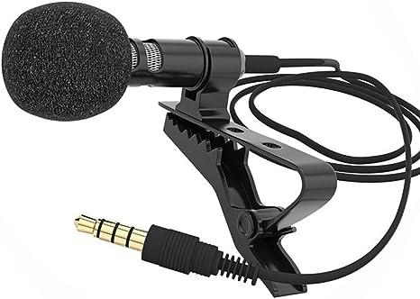Morehappy7 Lavalier Micrófono, Omni-Directional Condenser Solapa Clip-On Mic Cable blindado de un solo núcleo Smartphone: Amazon.es: Deportes y aire libre