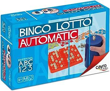 Comprar Cayro - Bingo automático - Juego Tradicional - Juego de plástico - Juego para niños y Adultos - Juego de Mesa (301)