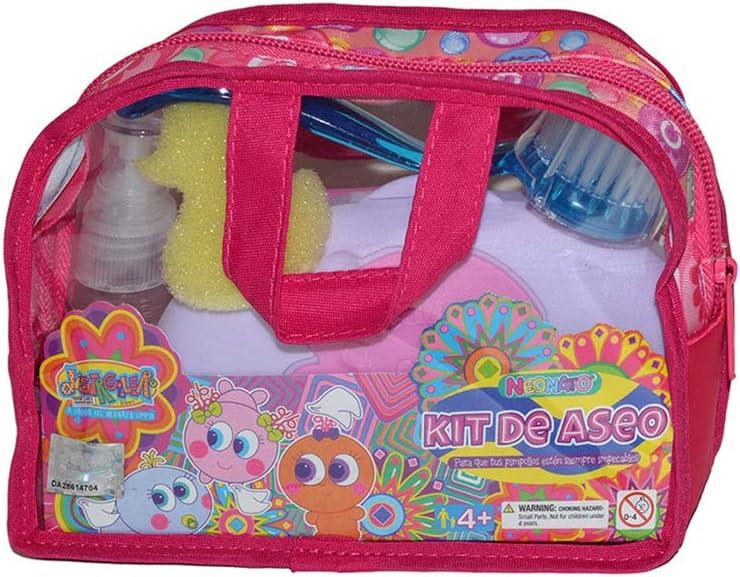 Distroller Neonate Nerlie Kit De Accesorios Para Baño Con Cepillo Toallitas Espejo Peine Y Perfume De Tiburón Toys Games