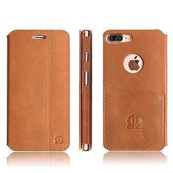 new concept 5c558 03440 Boriyuan Flip Cover for Iphone 7 Plus (Brown) - Buy Boriyuan Flip ...