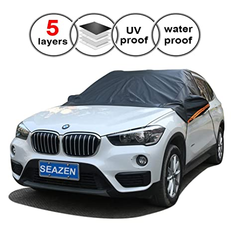 Hail 3 Magnets Most Secure Fitting and Easiest Installation//Waterproof for BMW S-WEKA Magnetic Car Windshield Cover for Ice and Snow