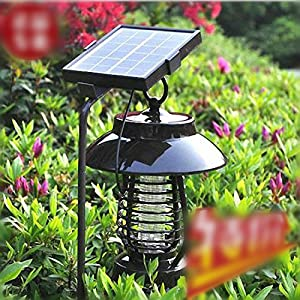 Sunnytech Solar Powered Insect Pest Mosquito Bug Killer Zapper Trap + 16 Led Lamp Light Function + Indoor Charging Function