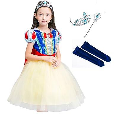 0e0971bb1e22e Forpend MX11白雪姫 ドレス キッズ プリンセスドレス ハロウィン コスプレ なりきり お姫様 ドレス マンド カチューシャ 袖カバー