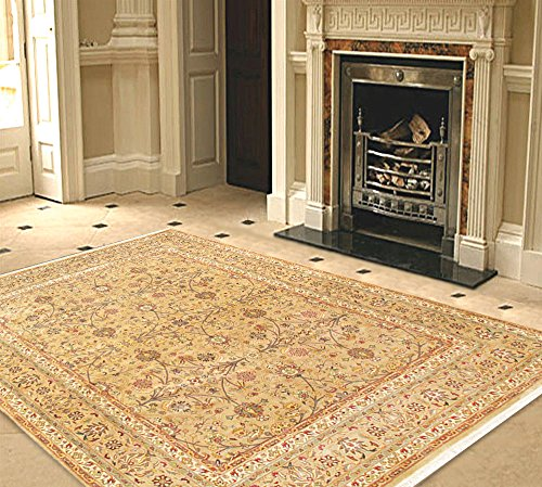 Pasargad Carpets 37122 Tabriz Collection Hand-Knotted Lamb's Wool Area Rug, 8' x 10'