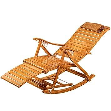 Fauteuil Longue Pliable Zhirong Bascule Balancelle Bambou À Chaise CerdWxBo