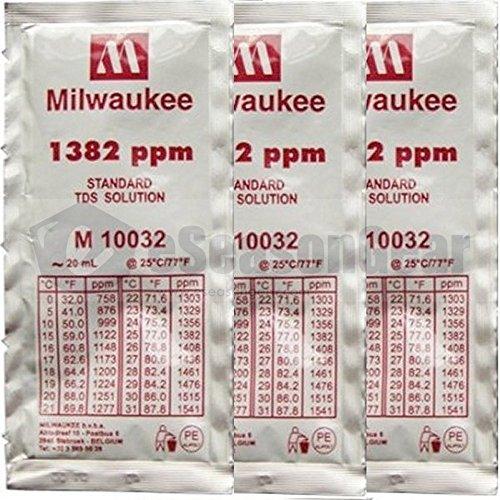 (3x 20ml 1382 ppm TDS Calibration Solution Sachet, Milwaukee M10032B M 10032)