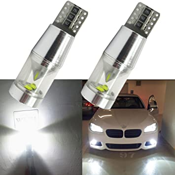 WLJH 2 bombillas LED Cree Canbus T10 sin errores de 9 W y color blanco superbrillante