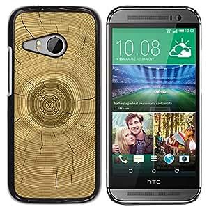 iKiki Tech / Estuche rígido - Tree Core Rings History Brown - HTC ONE MINI 2 / M8 MINI