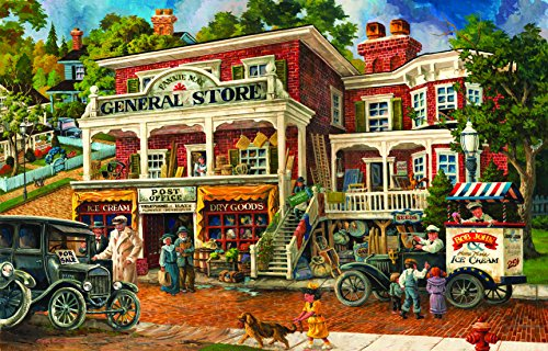 Jigsaw Puzzle - Vintage Vermont Country Store - 300 Large Unique Pieces - Made in The USA by Color Craft Puzzles - Challenge Any Large Piece Puzzle Lover ()