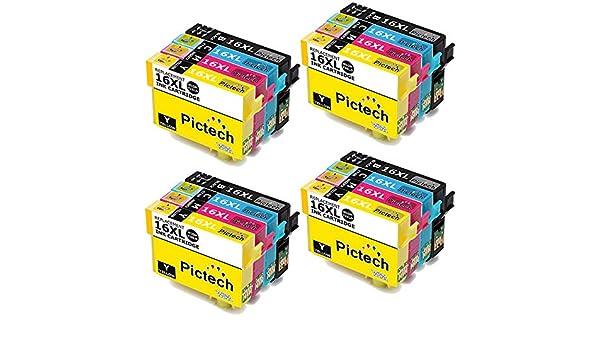Pictech® Cartuchos de tinta compatibles con Epson 16XL para ...
