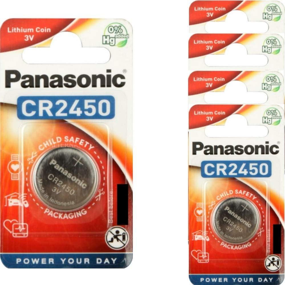 5x Cr2450 Knopfzelle 3v Batterie 620mah Panasonic Elektronik