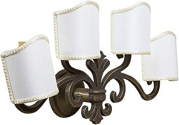 Lampada applique da muro style fiorentino in fusione di ottone