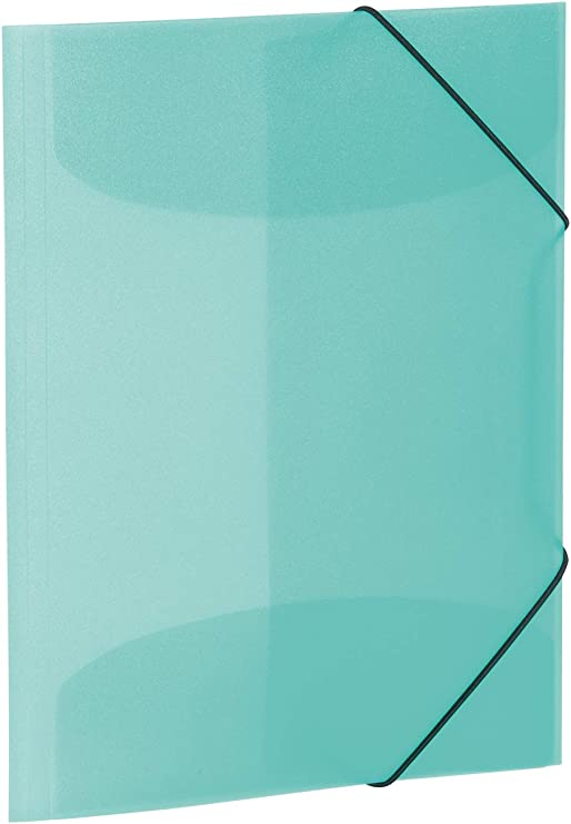Clear DIN A4 Dark Blue Herma 19500/Portfolio File with Elastic Band Corner Fasteners Pack of 1 Plastic