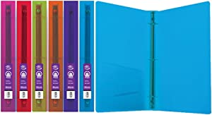 "BAZIC 1"" Glitter Poly 3-Ring Binder w/Pocket for School, Home, or Office (Case of 48) (3128-48)"