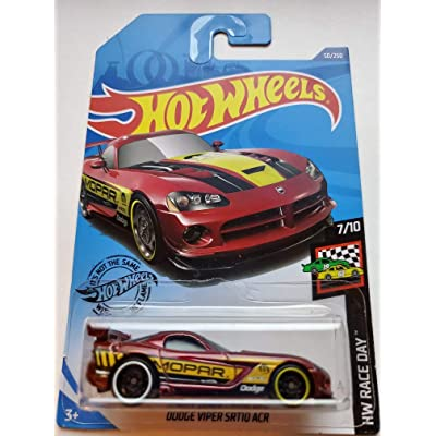 Hot Wheels 2020 Hw Race Day Dodge Viper SRT10 ACR, 50/250 Red: Toys & Games